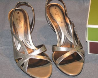 Vintage Sandals, Naturalizer Pumps, Open Toe, Slingback, Ladies Pumps, Sandals, Vintage Shoes, Dress Shoe, Slingback Pumps