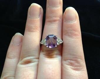 Amethyst February Birthstone Ring Size 8