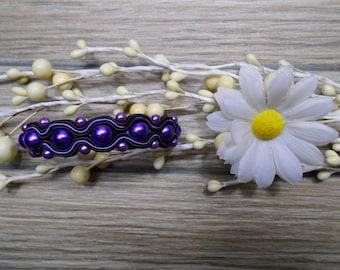 bracelet  / soutache technique / handmade (nr370)