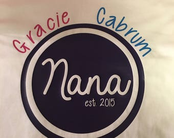 Nana, Grandmother, Grandma, Mamaw, Mimi, and Grandkids Shirt