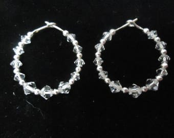 Swarovski Elements Crystal Hoop Earrings