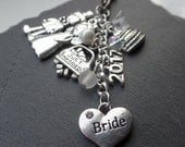 Bride bag charm - Bride gift - bride to be gift - bridal gift - wedding gift - gift for bride - bridal party gift - wedding favour