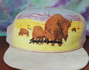 Vintage Great Smoky Mountains Corduroy Hat