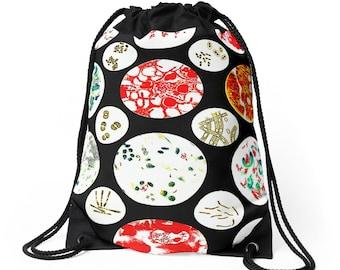 Petri Dish Drawstring Bag Backpack Knapsack