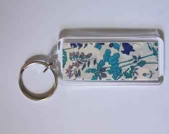 Liberty Lawn Key fob - Blue on white
