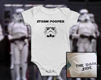 Star Wars Funny Baby Grow Vest Onesie Bodysuit Romper - Storm Trooper / Pooper