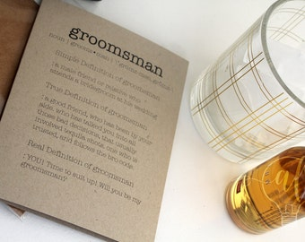 Funny Groomsmen Proposal Card - Groomsmen dictionary definition card - Be my groomsman - will you be my groomsman - ask groomsman