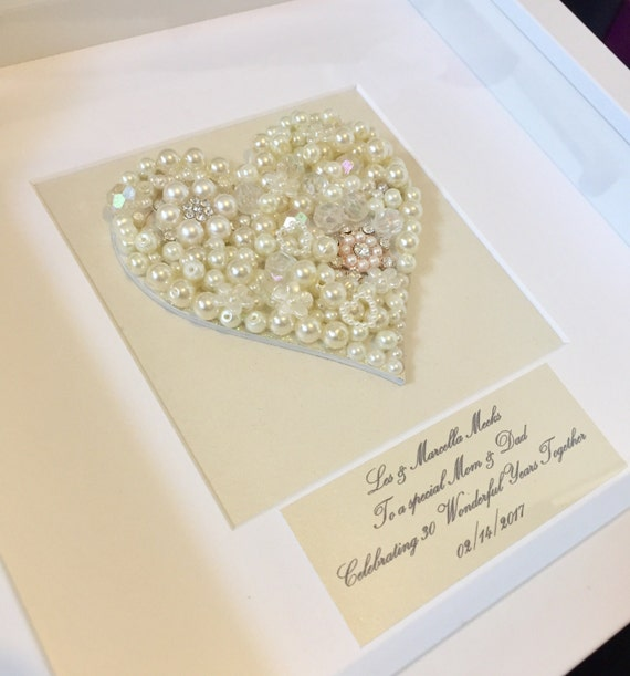 What Gift For 30th Wedding Anniversary: Items Similar To 30th Pearl Wedding Anniversary Gift