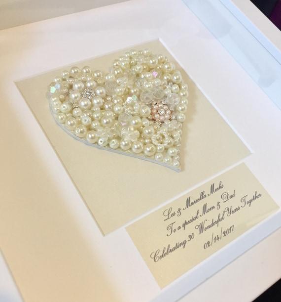 30th pearl wedding Anniversary Gift, Pearl Wedding Anniversary Present ...
