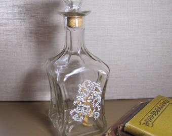 Old Fitzgerald Collection Liquor Bottle - Decanter - Bird in a Pear Tree Applied Design