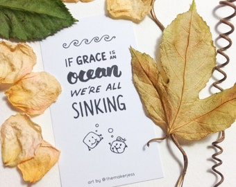 If Grace is an Ocean Mini Bookmark (Pack of 10)