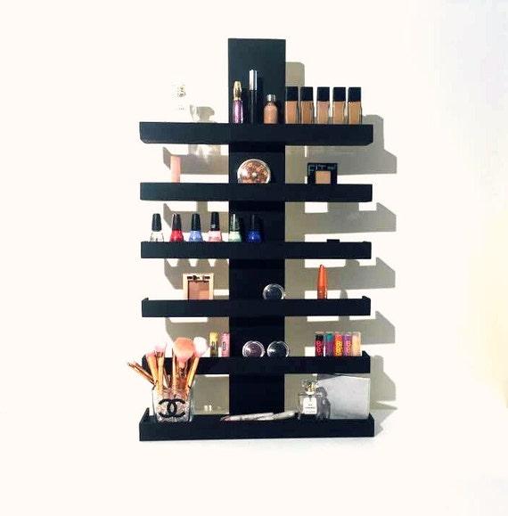 Diy Modern Hanging Jewelry Organizer: Wall Mounted Makeup Shelf Makeup Organizer Nail Polish