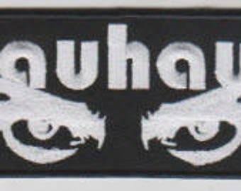 Bauhaus punk hardcore embroidered patch - eye