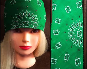 Green Bling Bandana