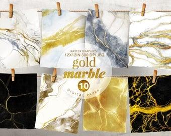 Gold Marble Digital Paper, Gold Wallpaper, Gold Marble Textures, Gold Marble clipart, Marble wallpaper, Marble patterns, Gold Marble Pattern
