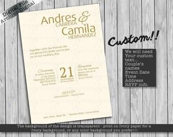 Wedding Invitation/ Invitacion de Matrimonio