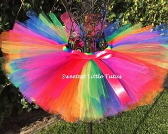 Rainbow Tutu/ Birthday Tutu/ Unicorn Birthday/ Candy Land Tutu/ Circus Tutu/ Rainbow Baby Tutu