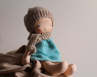 The Olive Dress pattern, PDF pattern, Doll Dress Knitting Pattern