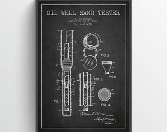 1928 Oil Well Sand Tester Patent, Oil Drilling Print, Oil Drilling Print, Oil Drilling Poster, Home Decor, Gift Idea, PFEN16P