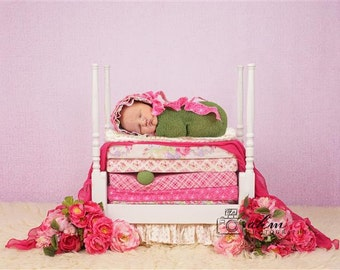 Digital Newborn Backdrop Princess and the Pea Bed. One of a kind Prop!