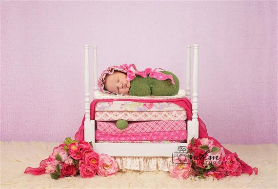 Digital newborn backdrop princess and the pea bed one of for One of a kind beds