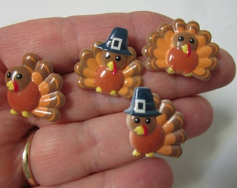 FREE SHIPPING! Pilgrim Turkey Stud Earrings-Thanksgiving Earrings