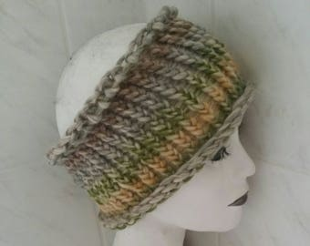 Beige dreadlock tube headband