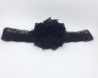 Black Headband,Baby headband, Black Baby headband, Black Headband,Black Lace baby headband Photo Prop, Headband for halloween, black lace