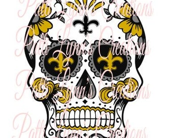 SVG Sugar Skull Saints (all layers ungrouped)