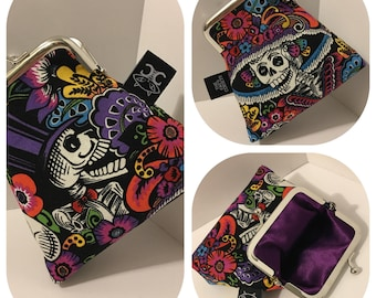 Day of the Dead coin purse by The Cat's Corsets
