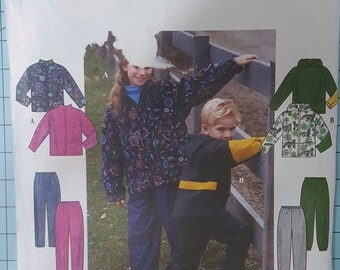 Simplicity 8342 Child's Jacket and Pants Size 7-12