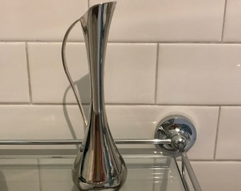 Silver plated small vase with handle - Leonard - Made in Hong Kong