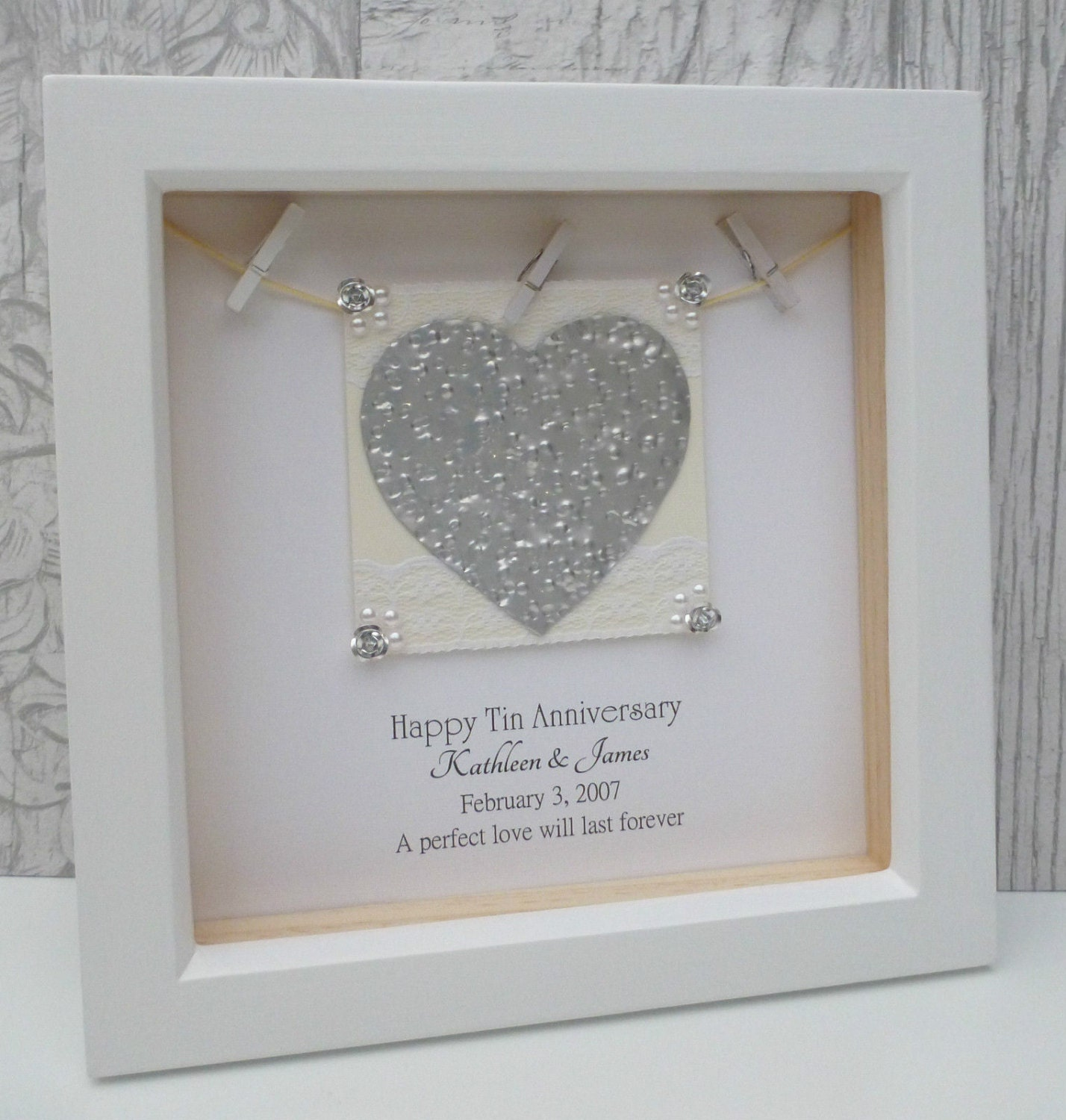 Anniversary Wedding Gift: 10th Anniversary Gift 10th Wedding Anniversary Gift Tin