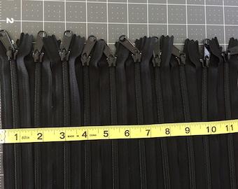 """YKK Zippers, Handbag Zippers, Purse zippers, Long Pull zippers, Heavy duty zippers, Black zippers, #5 Zippers, Nylon Coil, 22"""" long"""