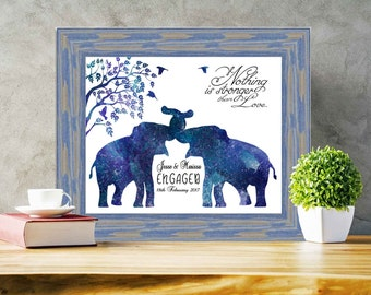 Wedding Gift Framed gifts Framed Prints Personalized Framed Engagement gift  for couples