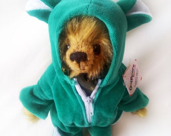 "Vintage Plush Clothing Сrocodile Сostume for 9/11"" Teddy Bear Designed by Outfitters Collection"
