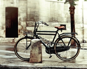 Bicycle Art, Paris Photography, Bike Photo, Wall Art Print, France Photograph, Bicycle Picture, Europe Wall Decor, Living Room Art,  8 x 10