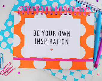 Positive Quote Print A5/A4 | Inspirational Motivational Postcard A6 | Be Your Own Inspo | Office | Nursery | Home Decor