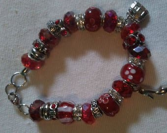 Red Bracelets with Charms