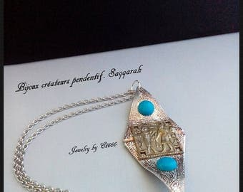 Jewelry creators double face pendant. Saqqara