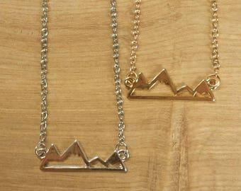 Mountain Necklace // Silver // Gold