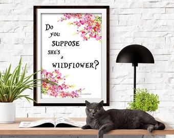 Do you suppose she's a Wildflower? Digital art printable