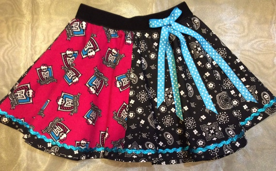 Items similar to monster high crest themed fabric with for Monster themed fabric