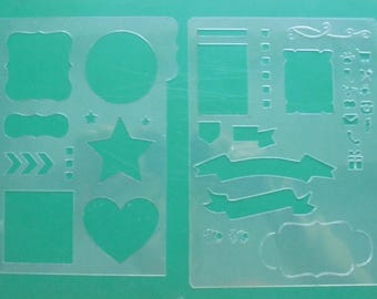 set of  6 pcs stencils for bullet journal set sjabloon