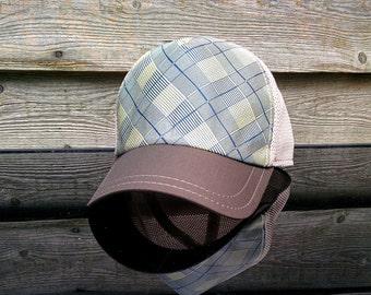 New Bespoke Rare Designer's Fashion Silk Trucker Baseball Cap