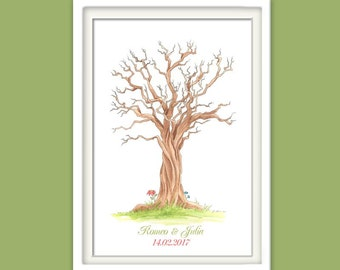 Fingerprint tree / wedding tree