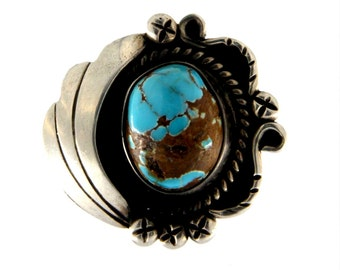 Natrual Turquoise  Sterling Ring
