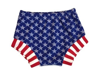 Blue Stars Shorties, Bloomers, Patriotic, Fourth of July