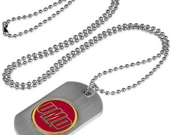 Minnesota Duluth Bulldogs Stainless Steel Dog Tag Necklace