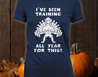 Training to Eat Funny Happy Thanksgiving Shirts, Ugly Holiday Sweater, Thanksgiving shirt Funny, Thanksgiving sweater,Turkey Bodysuit CT-807